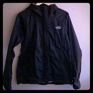 Black The North Face rain jacket.